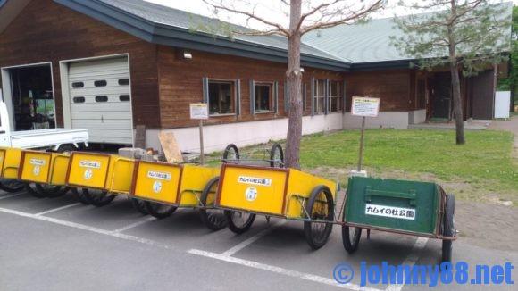 カムイの杜公園キャンプ場のリヤカー