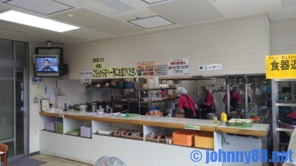 手稲区役所食堂の注文カウンター