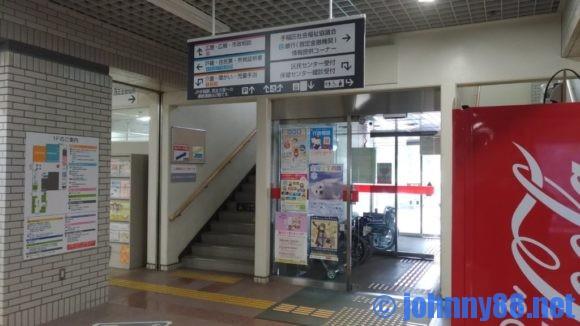 手稲区役所食堂に通じる階段