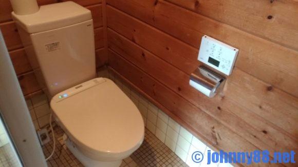 歌才オートキャンプ場ル・ピックのトイレ