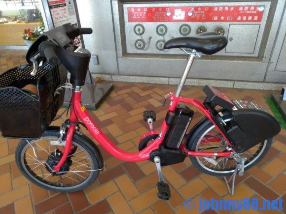 札幌の赤い自転車ポロクル