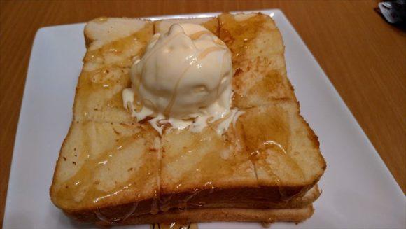 おかめやの食パンでハニートースト