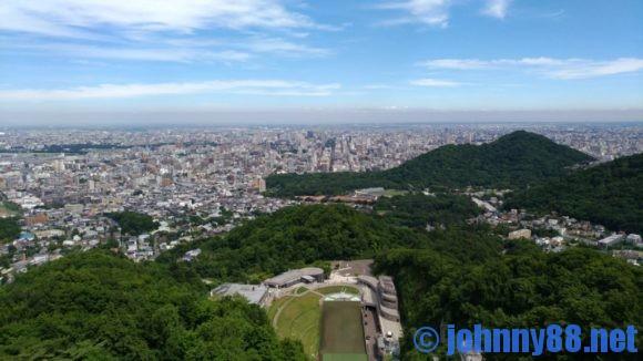 大倉山展望台から見た札幌市内