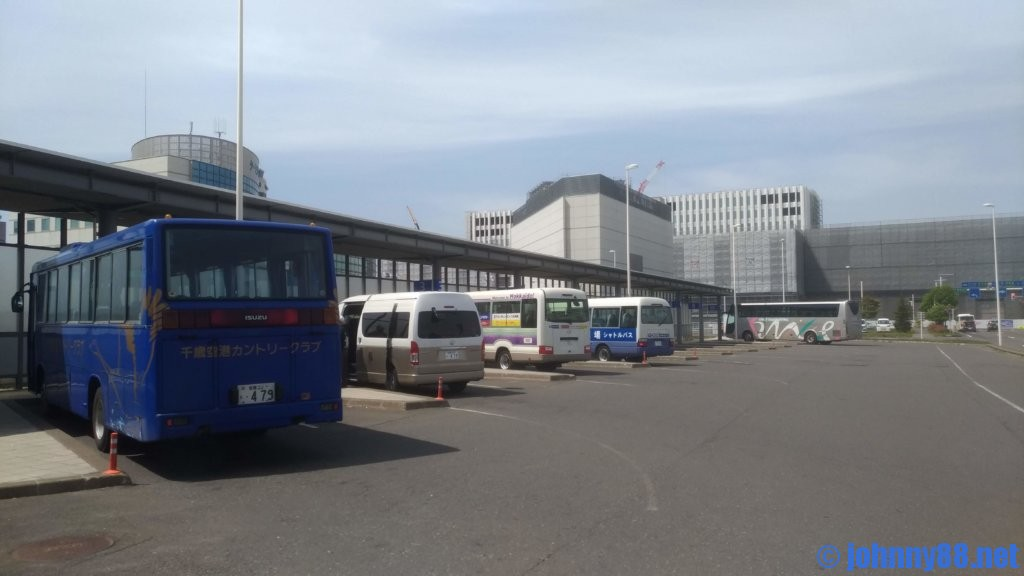 新千歳空港行きバス乗り場