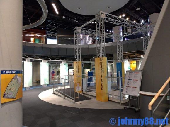 札幌オリンピックミュージアム1階展示ブース