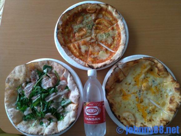石窯焼グラッチェのピザ