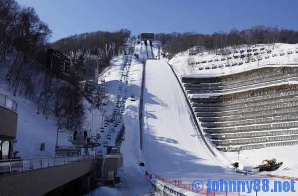 冬の大倉山ジャンプ競技場