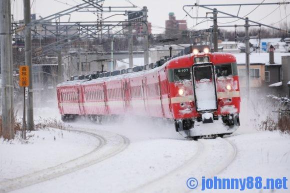 冬期間のJR北海道