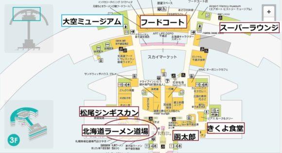 新千歳空港3階MAP