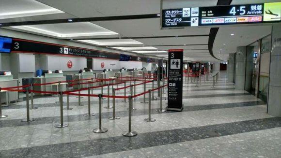 新千歳空港JALチェックインカウンター