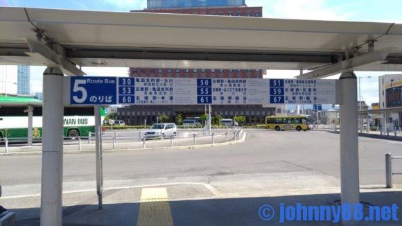JR函館駅前バスターミナル5番乗り場