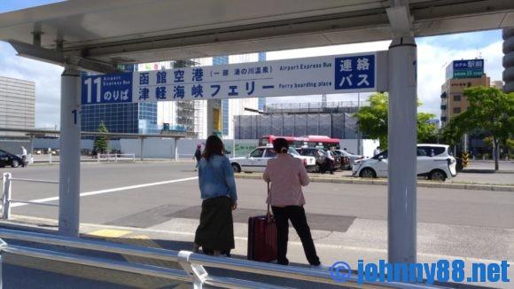 函館駅前バス停11番乗り場