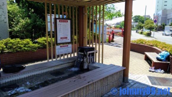 湯の川温泉足湯湯巡り舞台