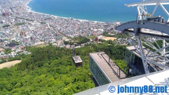 函館山から見たロープウェイ