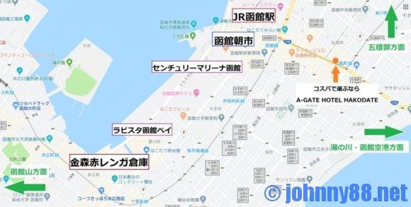 函館市内マップ