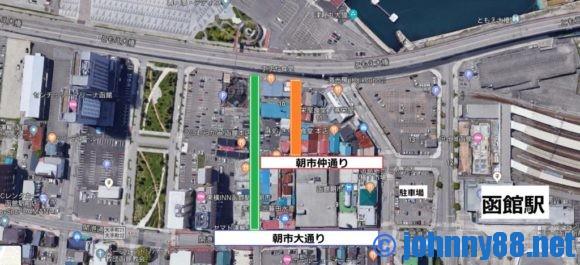 函館朝市内MAP