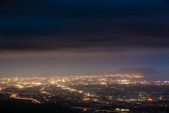 城岱牧場展望台から見た裏夜景