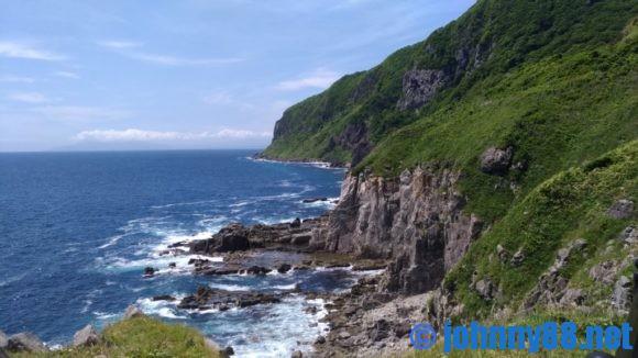 立待岬の絶壁
