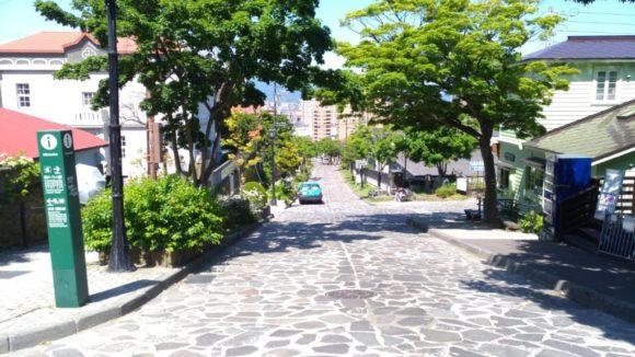 函館元町エリアの坂道