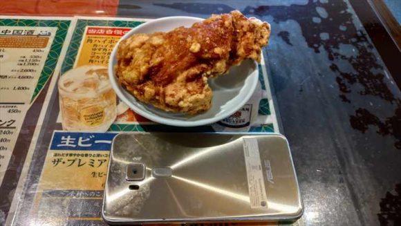 東方明珠飯店の鶏の唐揚げ定食