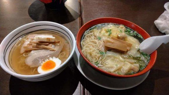 函館麺厨房あじさいのハーフサイズ