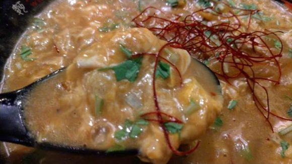 函館麺厨房あじさいの味彩加里(カレーラーメン)