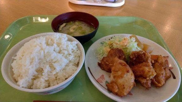 ポリテクセンター北海道食堂のザンダレ定食