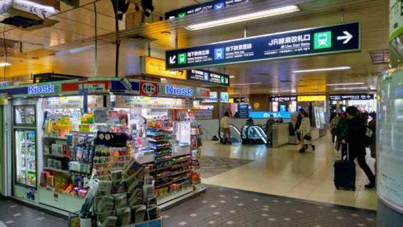 札幌駅東改札口目の前のエスカレーター