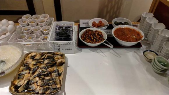 新千歳空港温泉の朝食