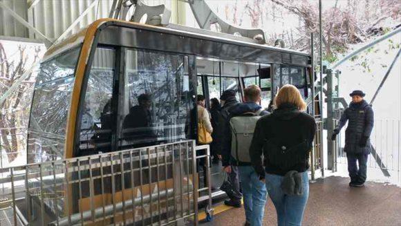 もいわ山麓駅からロープウェイ乗車