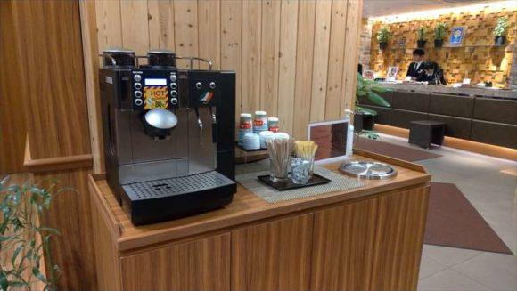 ドーミーイン札幌のコーヒーマシーン