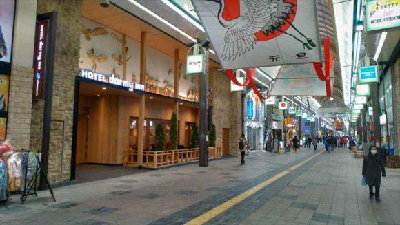 ドーミーインPREMIUM札幌の狸小路側入り口