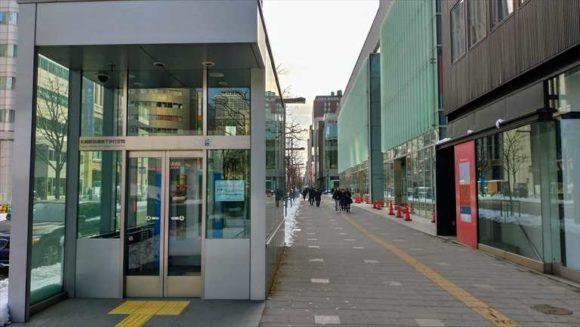 札幌駅前通地下歩行空間の出口
