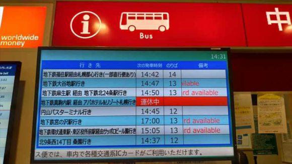 新千歳空港連絡バス路線案内図