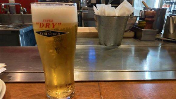 広島風お好み焼き ひなちゃんのビール