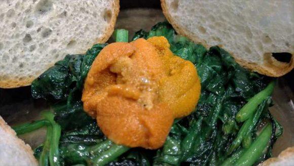 広島風お好み焼き ひなちゃんのウニほーれん