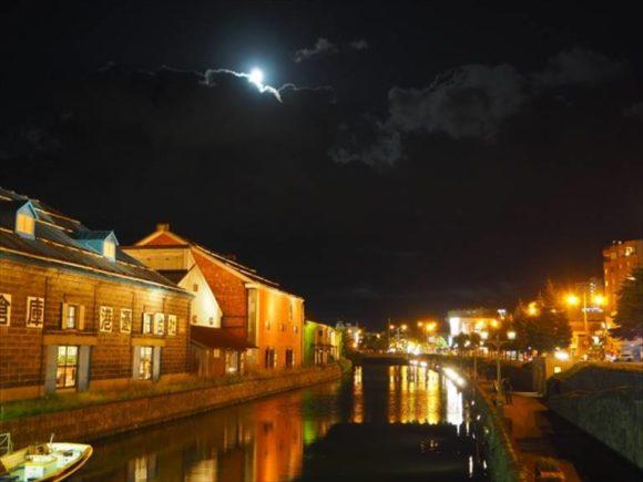 日没後の小樽運河