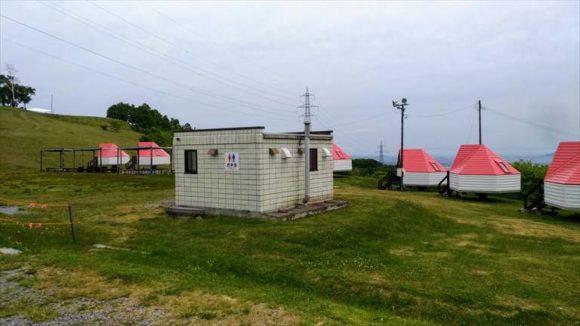 きじひきキャンプ場のトイレ
