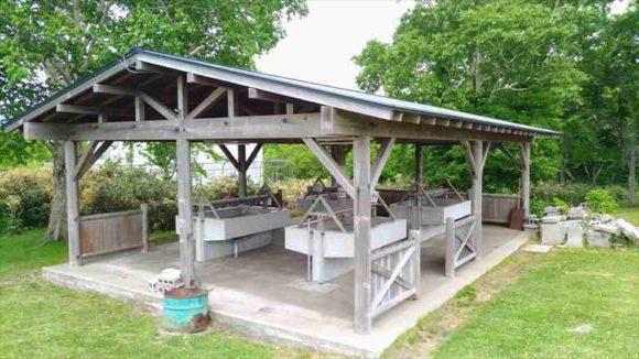 きじひき高原キャンプ場丘の上サイトの炊事場