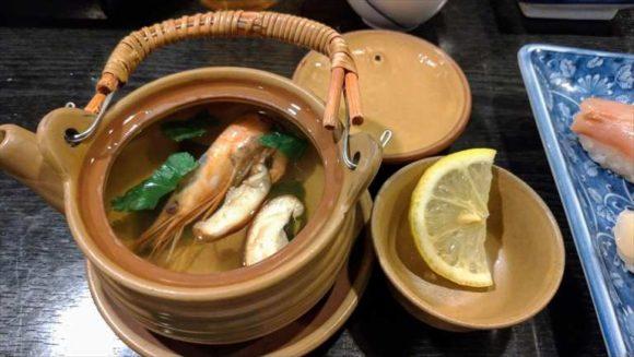 魚真(小樽おすすめ寿司)土瓶蒸し