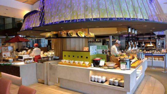 札幌ビューホテルランチブッフェの天ぷらコーナー