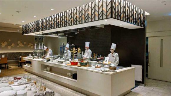 ANAクラウンプラザホテルMEMのライブキッチン