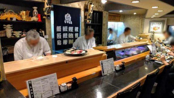 小樽おすすめ寿司魚真店内
