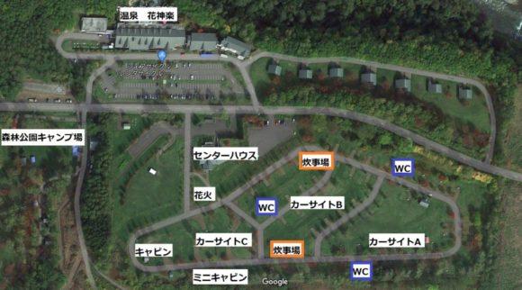 オートキャンプ場フローレMAP