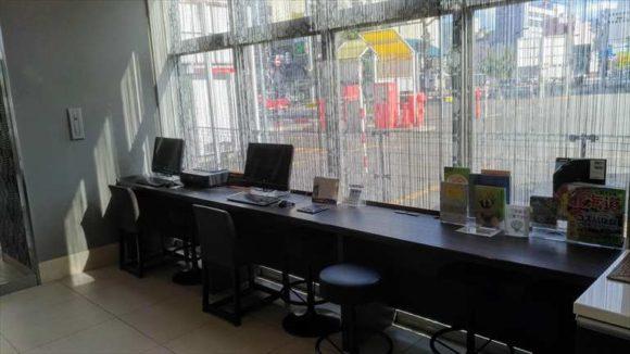 ドーミーイン旭川1階パソコンコーナー