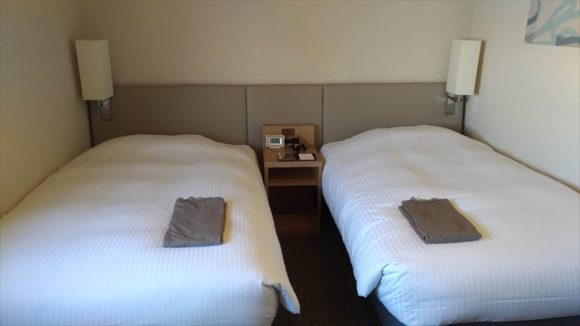 JRイン旭川の客室(ツインルーム)