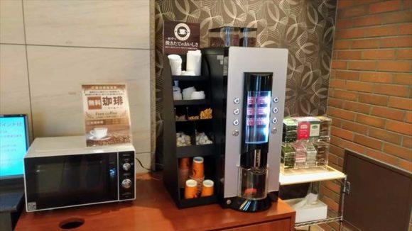 ホテルWBFグランデ旭川のウエルカムコーヒー