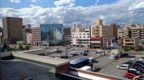 ホテルWBFグランデ旭川からの眺望