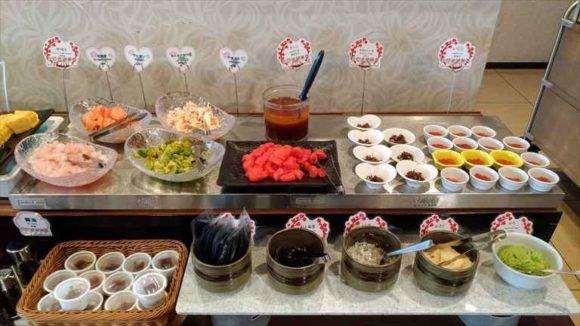 ホテルWBFグランデ旭川の朝食ブッフェバイキング