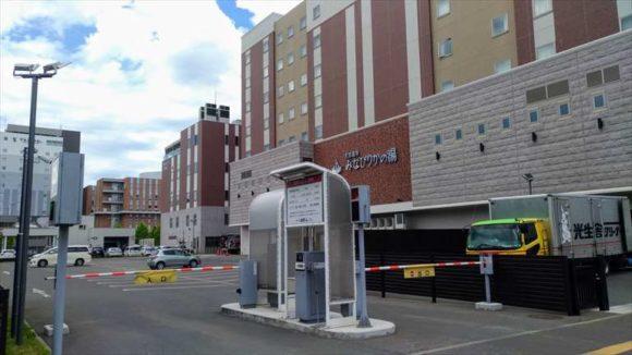 ホテルWBFグランデ旭川の駐車場